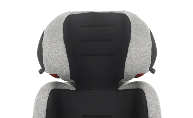 Headrest with large sides over the ears.